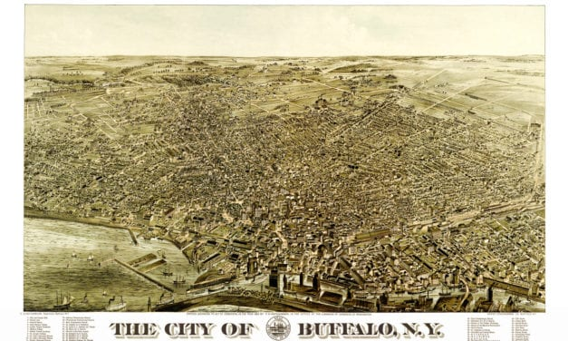 Beautiful vintage map of Buffalo, NY from 1880