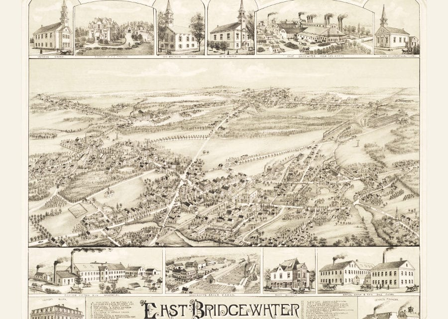 Wonderfully detailed map of East Bridgewater, MA from 1887