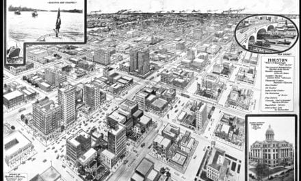 Amazing old map of Houston, Texas from 1912