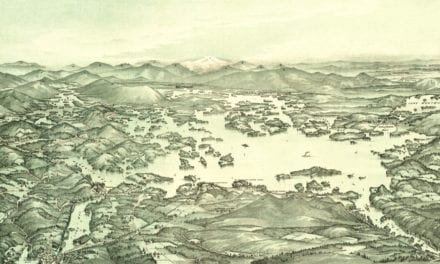 Beautifully detailed map of Lake Winnipesaukee from 1903