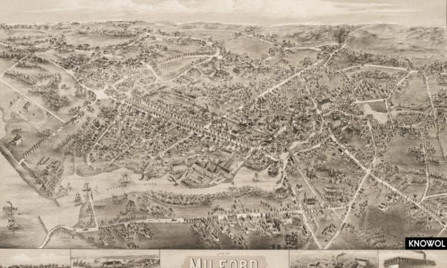 Beautiful vintage map of Milford, CT from 1882
