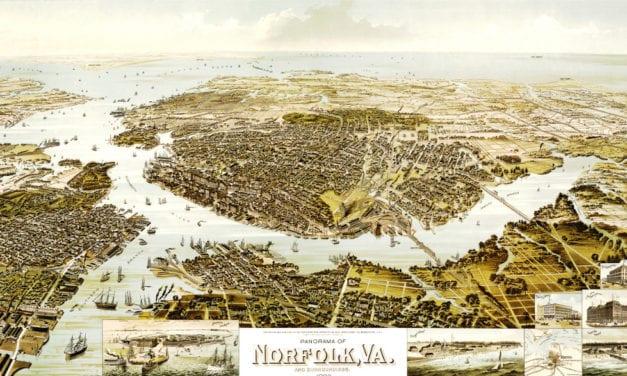 Beautiful old map shows Norfolk, VA as it looked in 1892