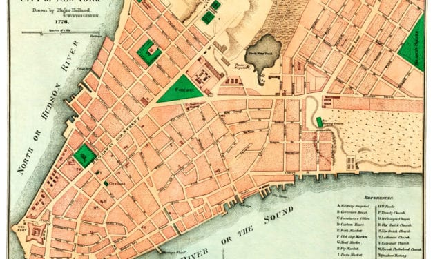 Amazing old map reveals original layout of NYC in 1776