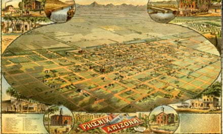 Amazing bird's eye view of Phoenix, Arizona in 1885