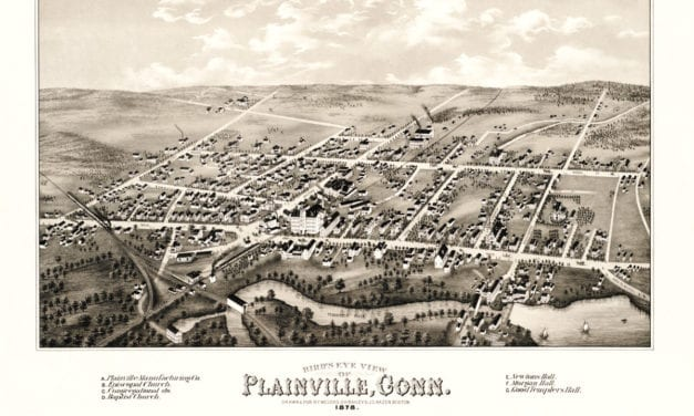 Beautiful vintage map of Plainville, CT from 1878