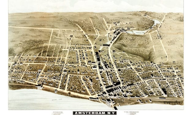 This is what Amsterdam, New York looked like in 1875