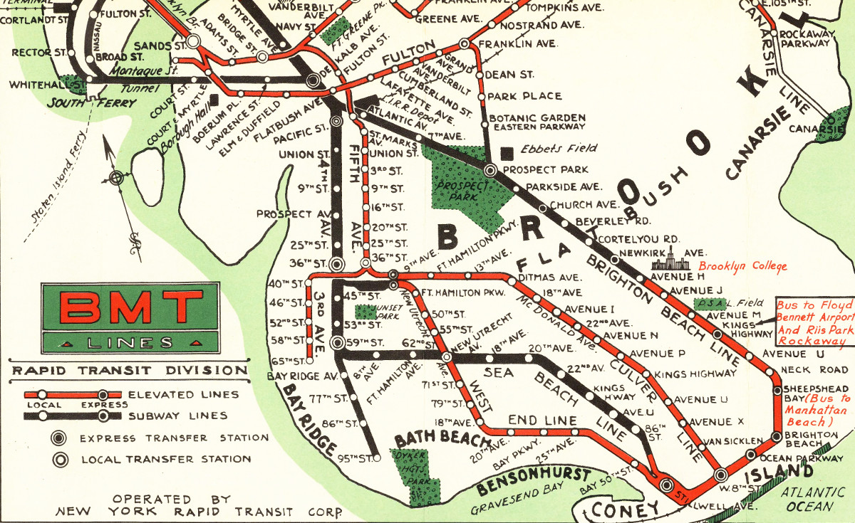 map of nyc subways created for 1939 world u0026 39 s fair