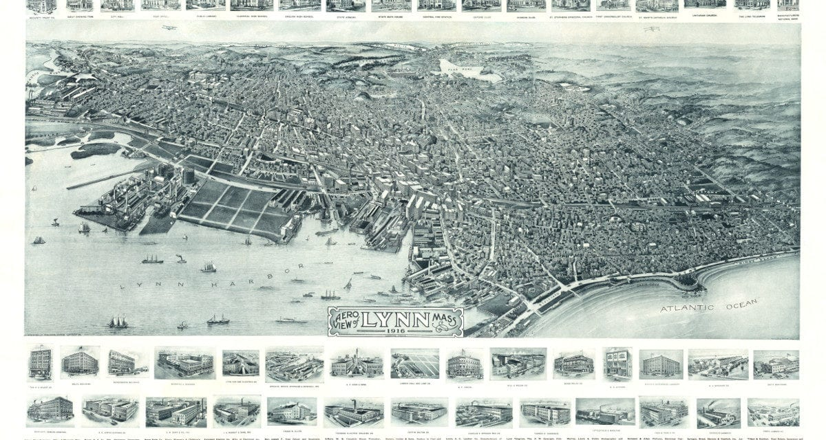 This is how Lynn, Massachusetts looked in 1916