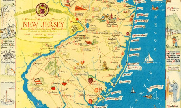 Amazing map of New Jersey filled with historical trivia