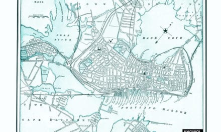 Vintage map of Portland, Maine from 1898
