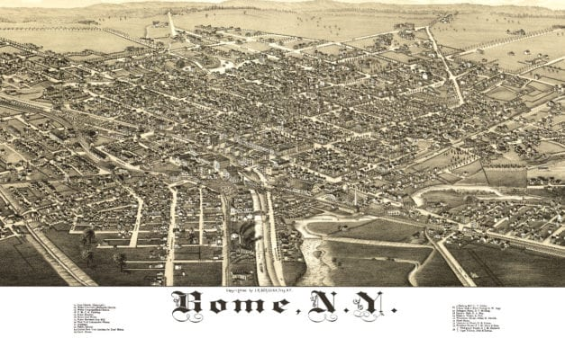 Amazing old map of Rome, New York from 1886