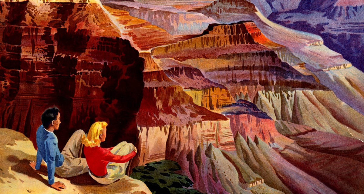 3 beautiful vintage travel posters for Grand Canyon, Bryce Canyon, and Zion National Park