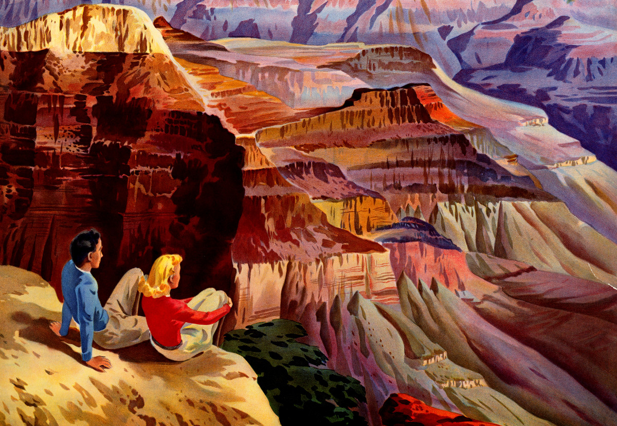 3 Beautiful Vintage Travel Posters For Grand Canyon Bryce Canyon And Zion National Park Knowol