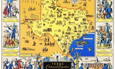 Amazing map of Texas from the Centennial Exposition in 1936