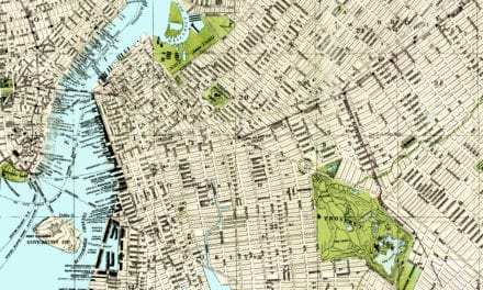 Vintage guide map and directory of Brooklyn from 1883