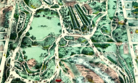 Beautifully designed map shows Central Park in the 1800's