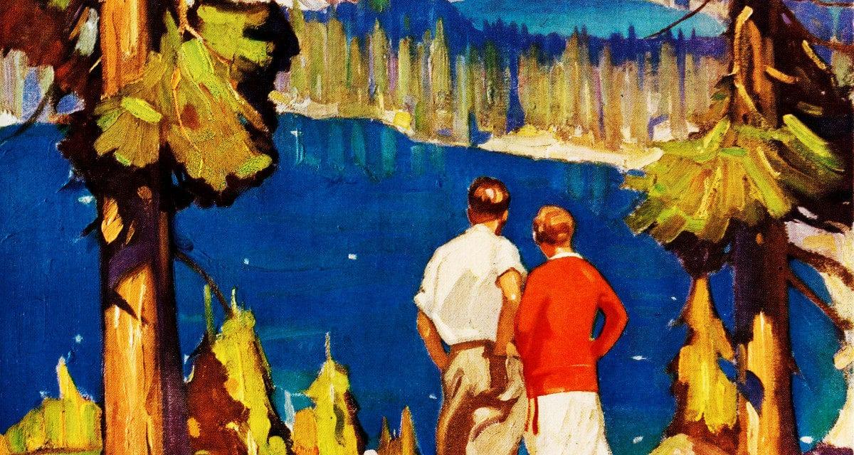 3 beautiful vintage Lake Tahoe travel posters