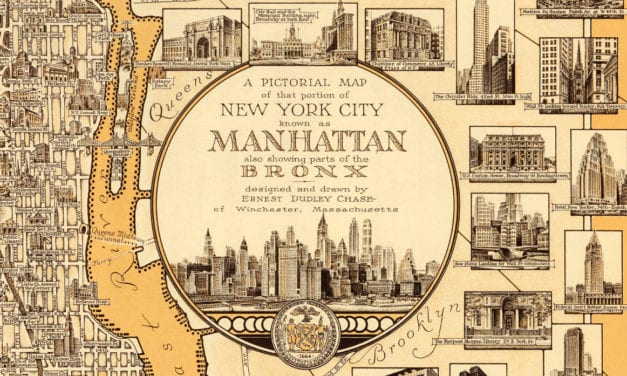 Amazing old map of Manhattan from 1939