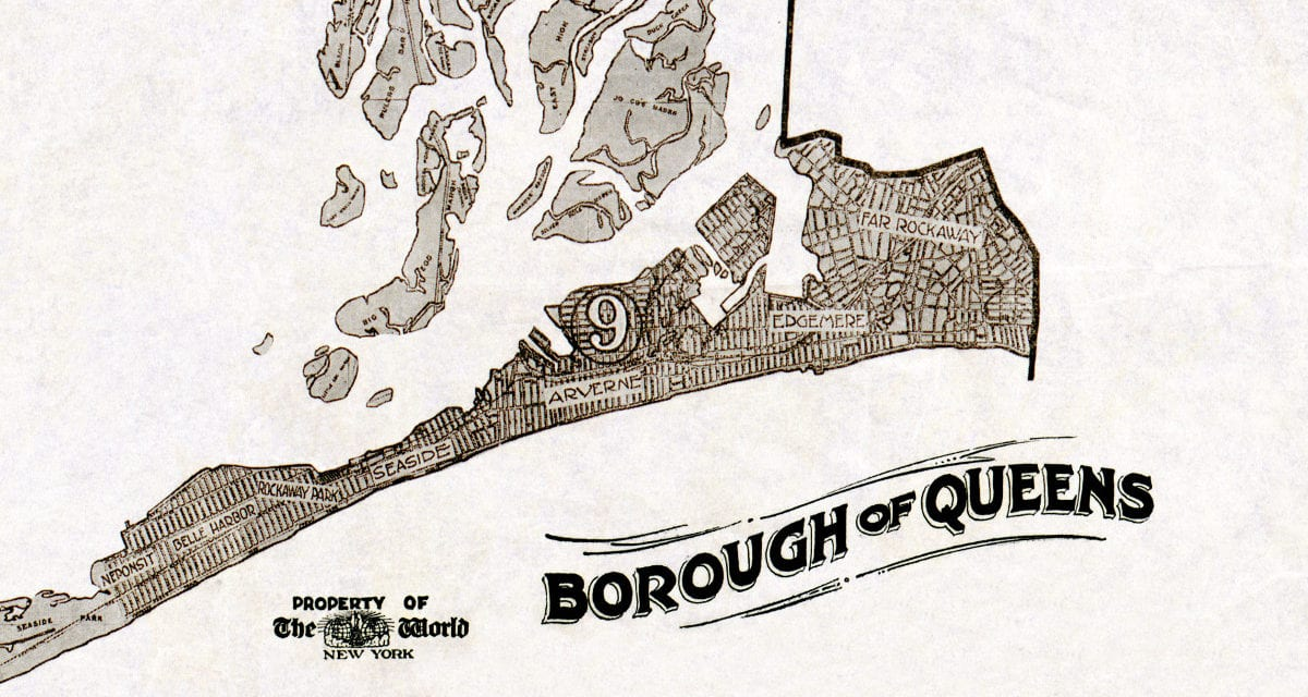 queens new york neighborhood guide map from 1918  knowol