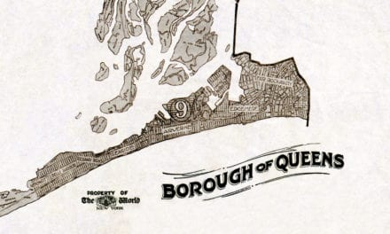 Map showing the Borough of Queens, NY in 1918