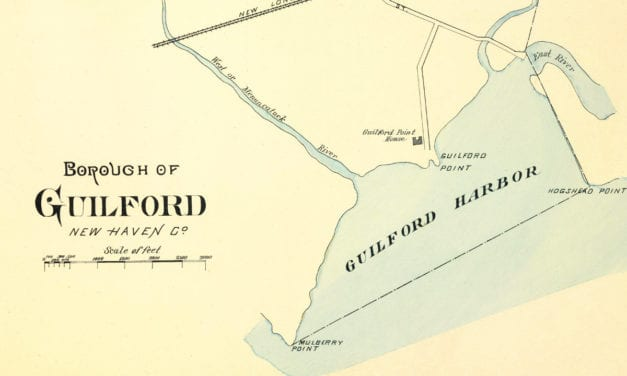 Historical map of Guilford, Connecticut created in 1893