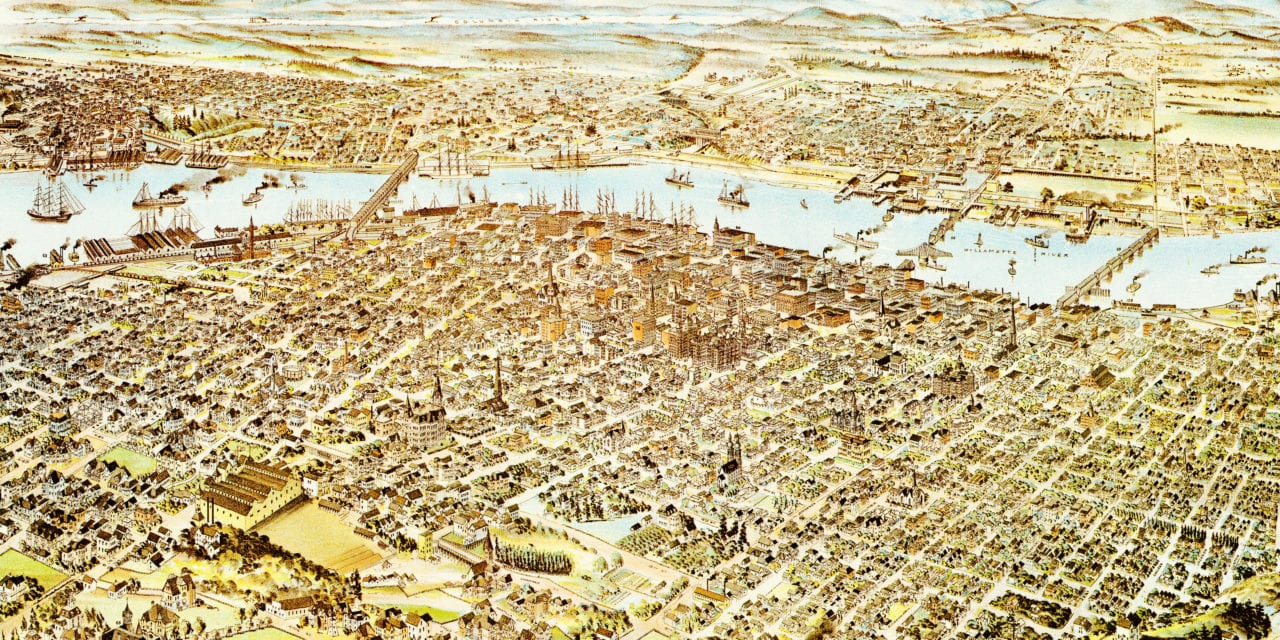 Amazing old map of Portland, Oregon from 1890 - KNOWOL on