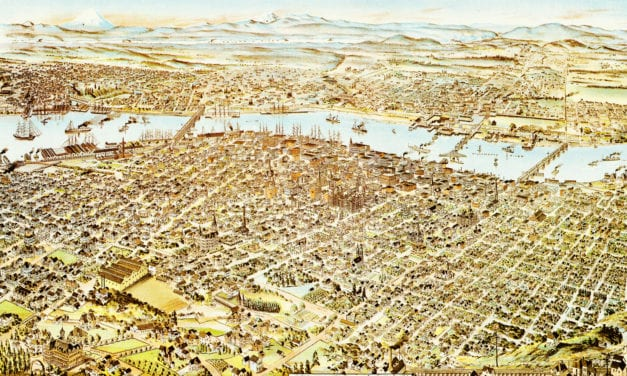 Amazing old map of Portland, Oregon from 1890
