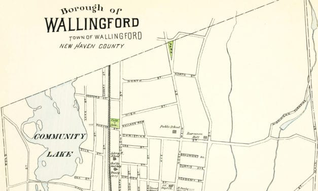 Historical map of Wallingford, Connecticut created in 1893