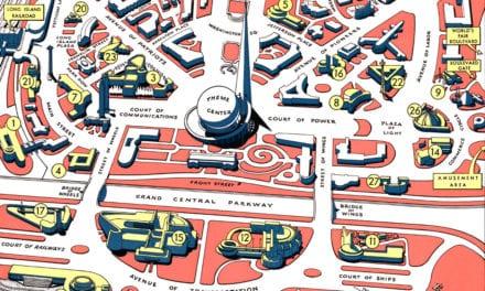 Retro map of the 1940 New York World's Fair