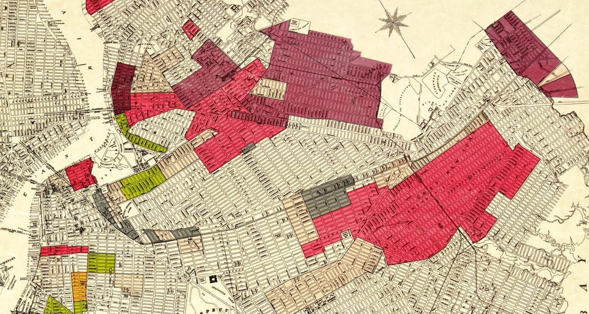 Map of Brooklyn's racial diversity by neighborhood, 1920