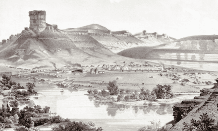 Picturesque View of Green River, Wyoming in 1875