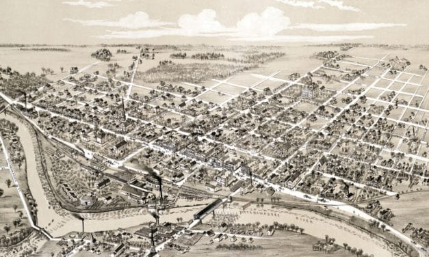 Beautifully restored map of Midland, Michigan from 1884