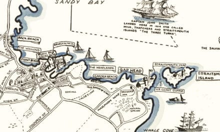 Beautiful map of Rockport, Massachusetts from 1940