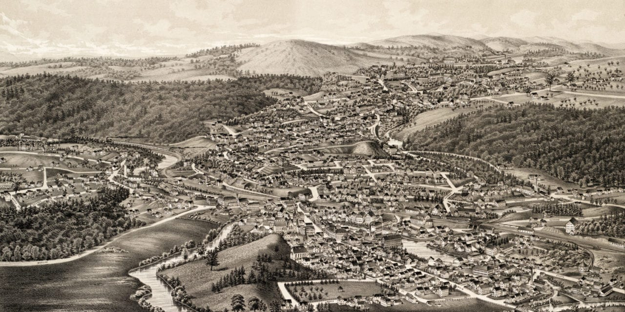 Old map provides bird's eye view of Athol, Mass in 1887