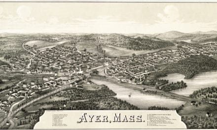 Vintage map of Ayer, Massachusetts, 1886