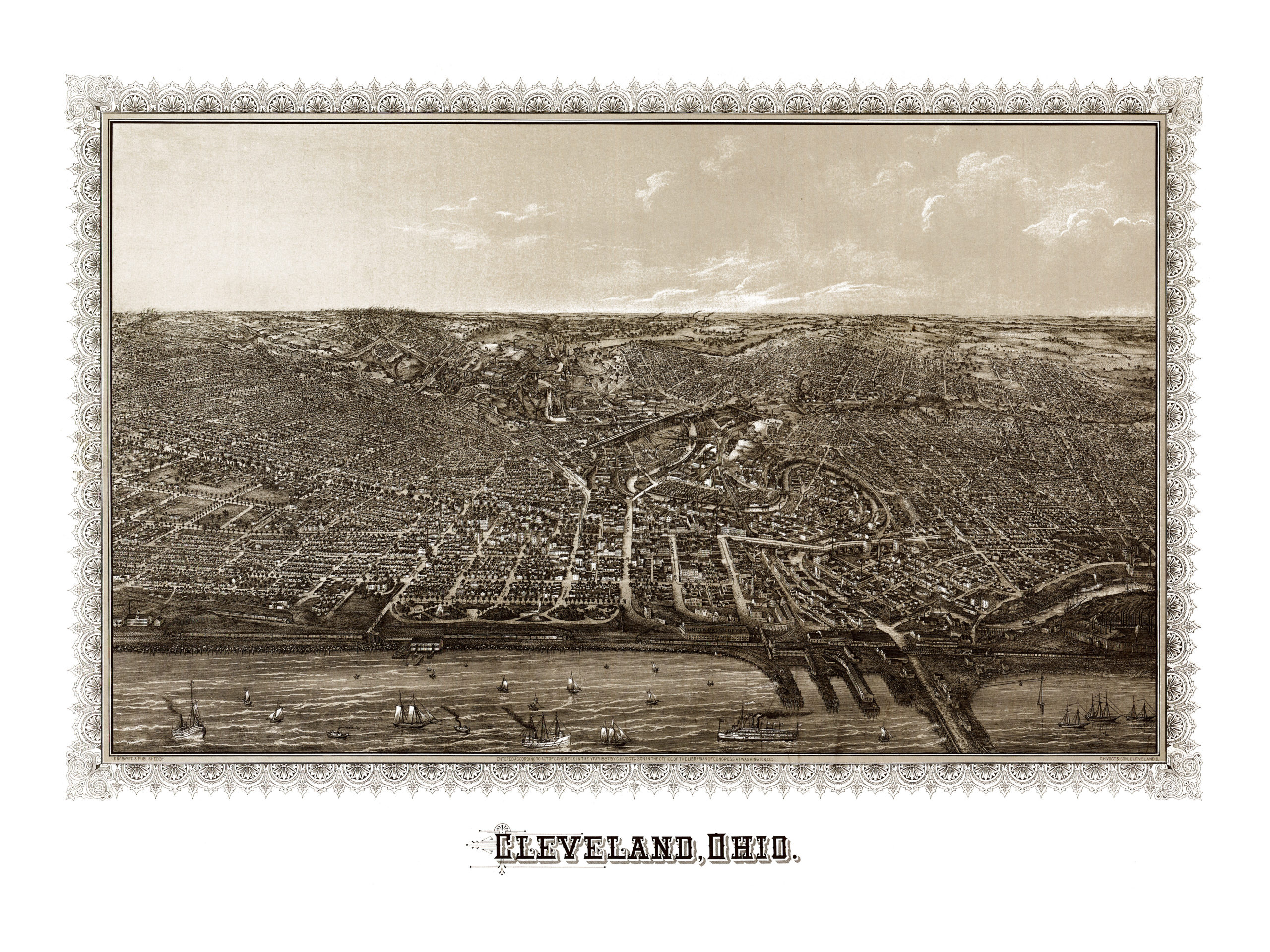 Beautifully detailed map of Cleveland, Ohio in 1887 - KNOWOL on map of comsewogue, map of columbia point, map of casselberry, map of locust point, map of university heights, map of lake panasoffkee, map of holly hill, map of oak hill, map of government center, map of gordonsville, map of kenansville, map of cassadaga, map of carrabelle, map of mead, map of pahokee, map of matlacha, map of seaport district, map of long key, map of southwest orlando, map of wimauma,