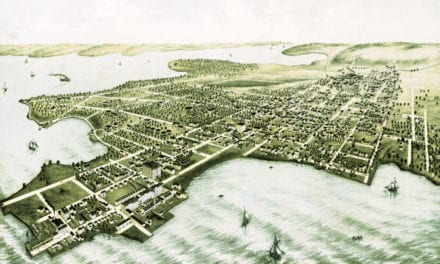Beautiful view of College Point, Queens in 1876