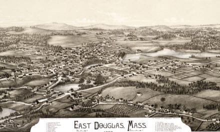 Beautifully detailed map of East Douglas, Mass from 1886
