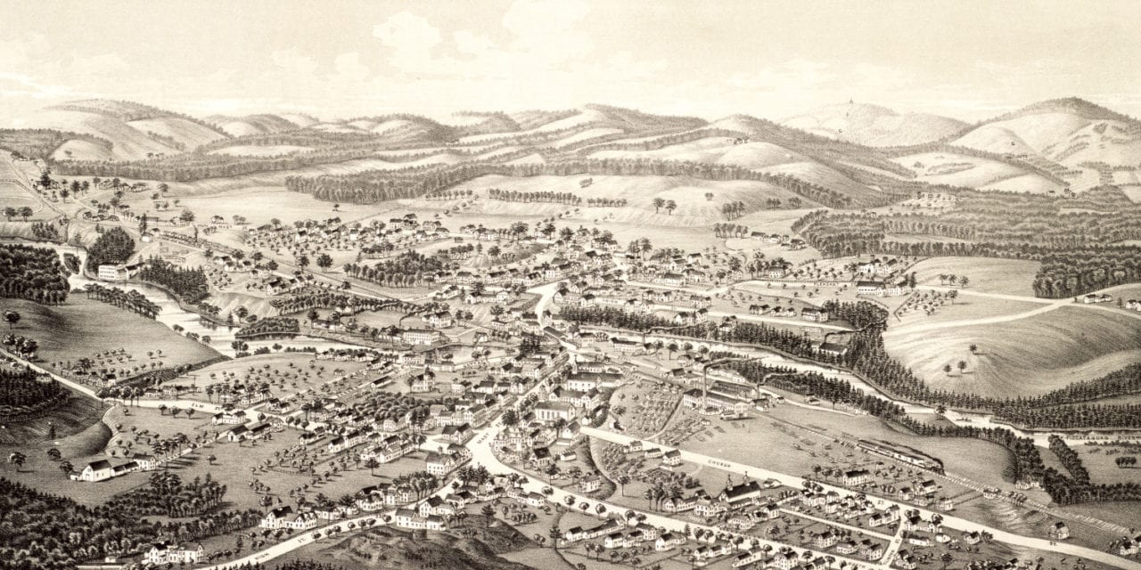 Beautifully detailed map of Goffstown, NH from 1887
