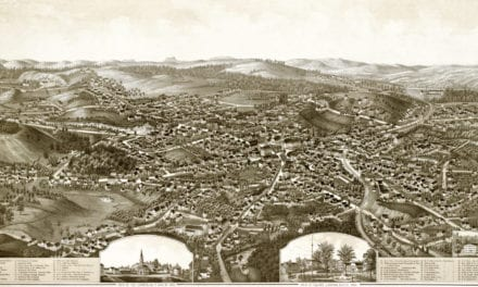Old map provides bird's eye view of Leominster, MA in 1886