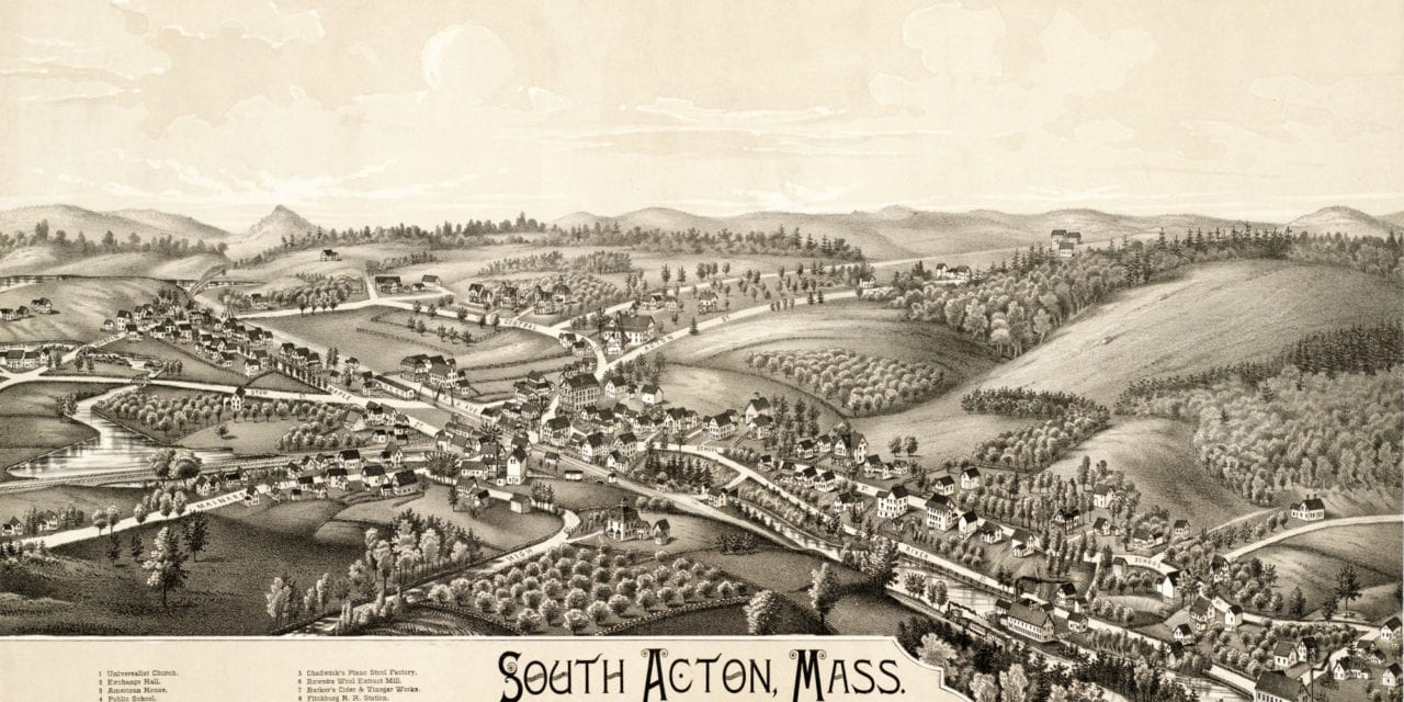 Exploring South Acton, Massachusetts in 1886