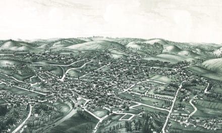 Historic old map of White Plains, New York from 1887