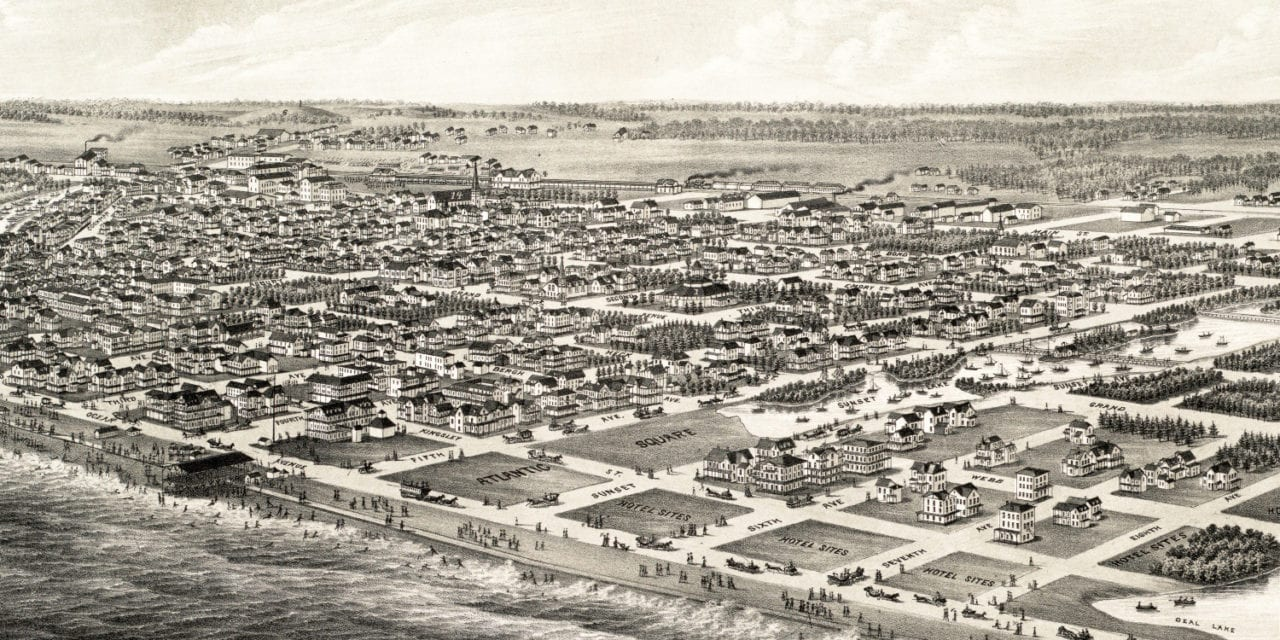 Beautifully detailed map of Asbury Park, New Jersey in 1881