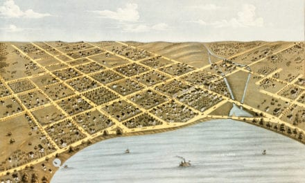 Beautiful old map of Geneva, Wisconsin from 1871