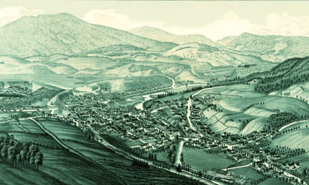 Historic old map of Ludlow, Vermont from 1885