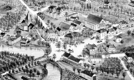 Beautifully restored map of Mattapan, MA from 1890