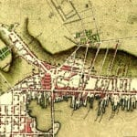 Plan of Newport, Rhode Island created in 1777 by the invading British Army