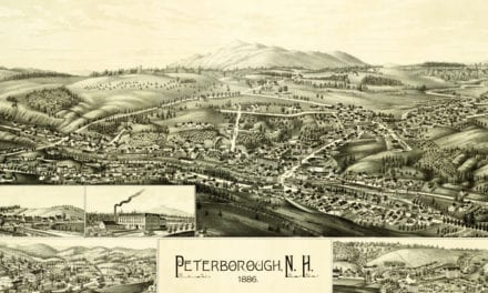 Historical map showing Peterborough, NH in 1886