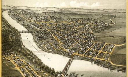 Bird's eye view of Apollo, Pennsylvania in 1896