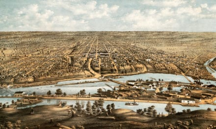 Vintage map of Appleton, Wisconsin from 1874